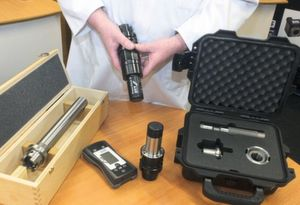 Gewefa's test equipment combines the Ott-Jakob Power Check (a spindle-pull force measuring gauge) and high-precision Gewefa test bars and alignment kits.