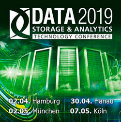 Die DATA Storage & Analytics Technology Conference 2019 gastiert im April und Mai in vier