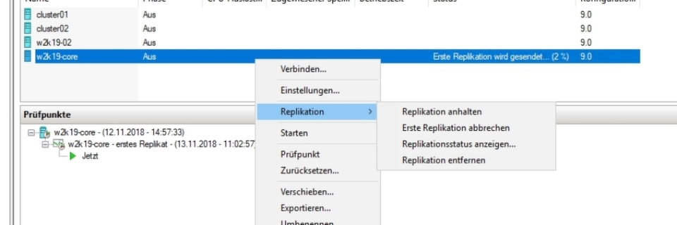 Hyper-V-Replikation in Windows Server 2019