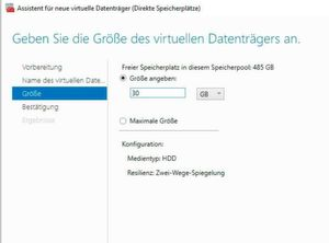 Erstellen von Storage Spaces im Storage Pool einer Storage Spaces Direct-Umgebung.