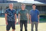 (Left to right) Dr. Oleksiy Zadorozhko, Prof. Denis Konstantinov, and Jiabao Chen of the Quantum Dynamics Unit published a new study investigating the impact of microwaves on two-dimensional electron systems on liquid helium. Chen, an OIST graduate student, is first author on the paper.