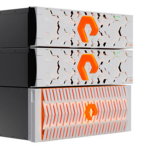 Zwei ObjectEngine-Appliances in Kombination mit einem FlashBlade-System von Pure Storage.