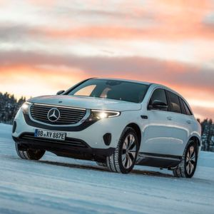 Mercedes-Benz EQC: Drift-Tests im Schnee