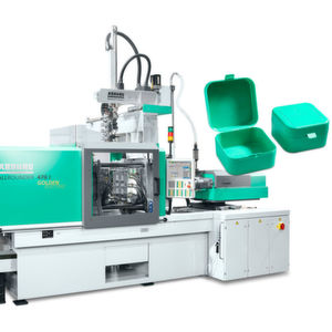 An Allrounder 470 E Golden Electric will produce all-purpose boxes at Plastimagen 2019. A linear Multilift Select robotic system performs the handling and assembly tasks.