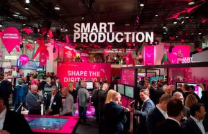 Digital Factory: Leading international trade fair for integrated processes and IT solutions (In the picture: Deutsche Telekom)
