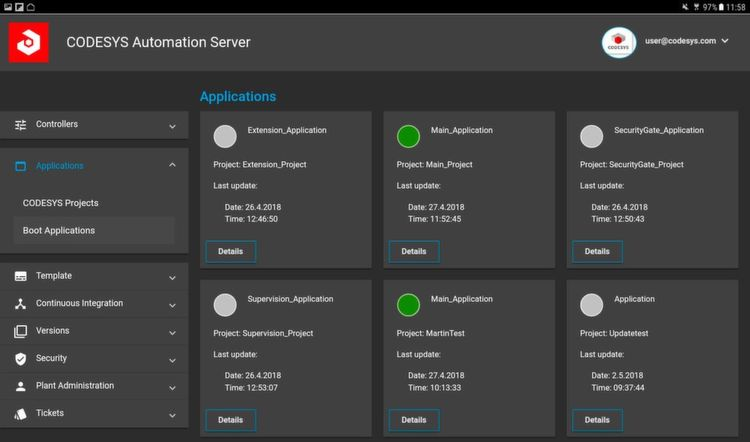 CODESYS Automation Server Apps