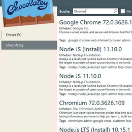 Software Management Automation mit Chocolatey