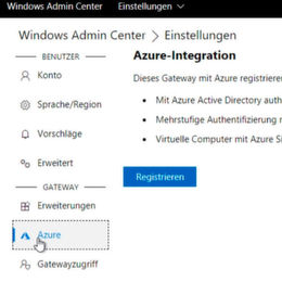 So binden Sie Azure an das Windows Admin Center an