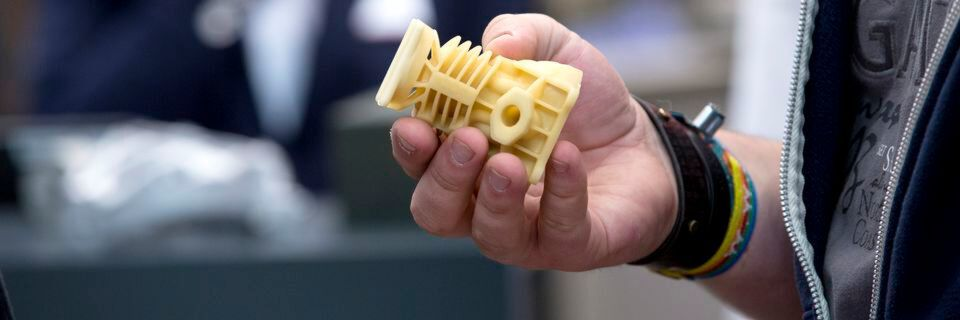 3D printing mould construction, shown at the GIFA in Düsseldorf