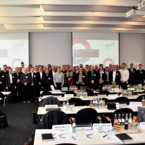 The official kick-off of the Umati OPC UA joint working group (JWG) with 55 representatives from 36 companies in Frankfurt, Germany, in February.