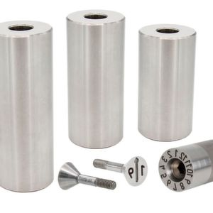 Tapered series date plugs made of stainless steel and the stainless steel support pillars.