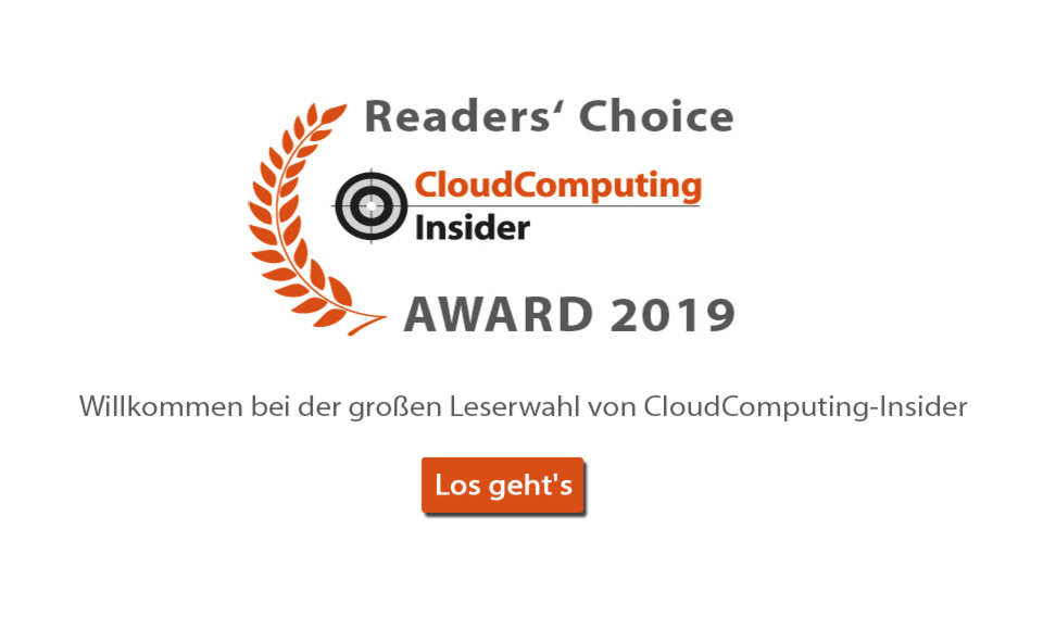 CloudComputing-Insider Umfrage - 2019