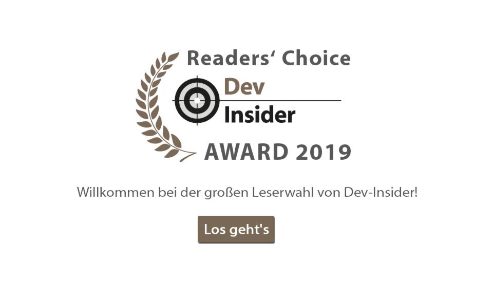 DEV-Insider Award-Umfrage