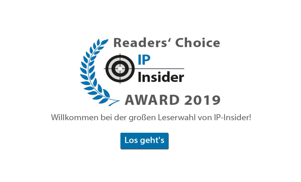 IP-Insider Awards - Umfrage
