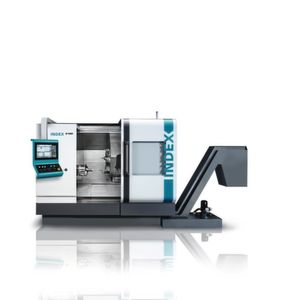 The Index B400 has the latest generation Siemens Sinumerik 840D-sl controller while the Traub TNA400 comes with a CNC TX8i-s V8 that is based on Mitsubishi controls.