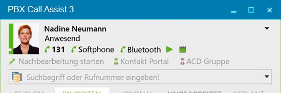 Die CTI-Software PBX Call Assist 3 läuft auf Windows, macOS, iOS und Android.