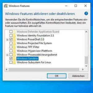 Die Windows Sandbox wird als optionales Feature in Windows 10 Version 1903 installiert.