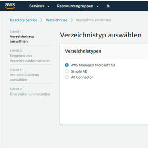 So richten Sie Active Directory für AWS Workspaces ein