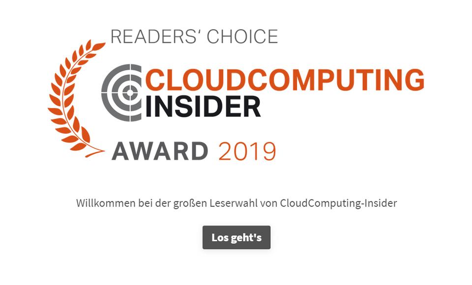 CloudComputing-Insider Umfrage - 2019