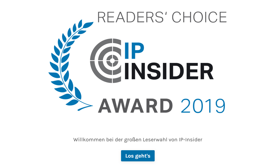 IP-Insider Awards - Umfrage