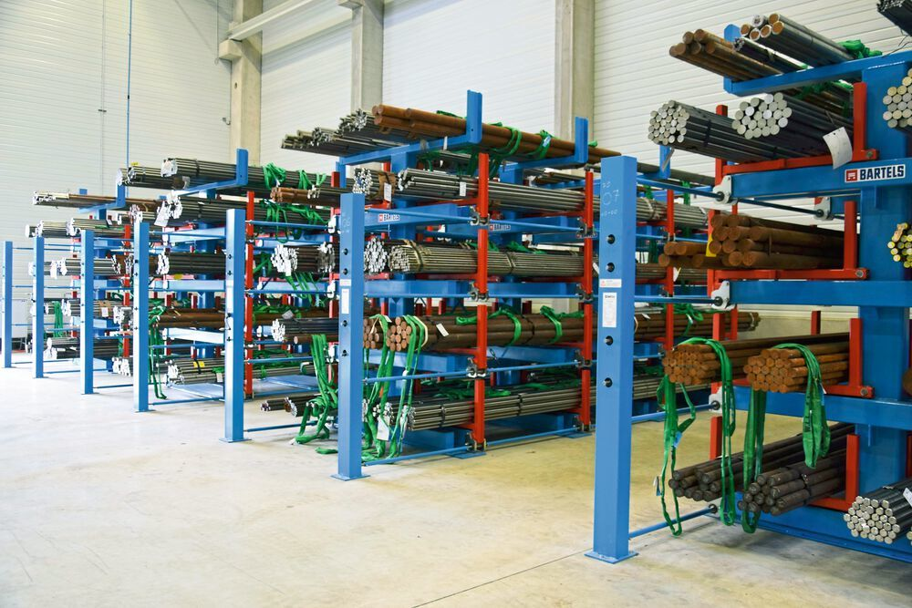 Karl H. Bartels' roll-out shelving allows customers to make better use of existing logistics space.