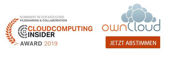 ownCloud ist nominiert in der Kategorie Filesharing & Collaboration