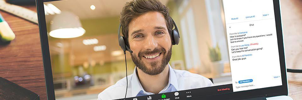 Zoom Video Conferencing verknüpft Live-Video mit den Audiokonferenzlösungen von Verizon.