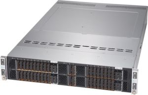 Supermicro Big Twin 2U Four-Node Server bietet zehn E1.S-Laufwerke plus zwei SATA M.2 pro Node.