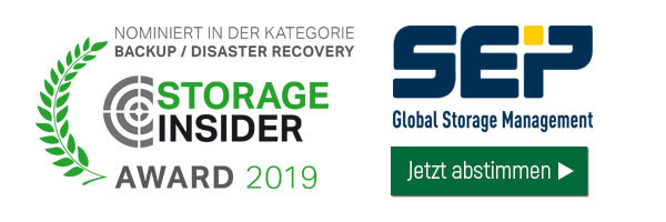 SEP ist nominiert in der Kategorie Backup/Disaster Recovery