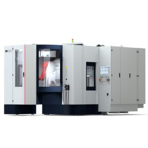 Schwäbische Werkzeugmaschinen GmbH (SW), expert in challenging, workpiece-specific manufacturing systems for metal working, has designed an independent cell for unsupervised manufacturing, the two-spindle BA 322i.