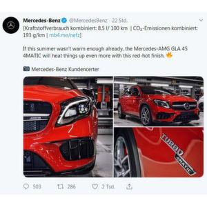 Mercedes: Witze über das Klima sind ganz dünnes Eis