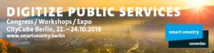 Die Smart Country Convention findet vom 22. bis 24. Oktober 2019 in Berlin statt