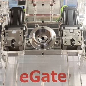 The E-gate actuators have a compact footprint.