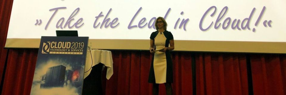 """Take the Lead in Cloud!"" – unter diesem Motto eröffnete Daniela Schilling, Leiterin der Vogel IT-Akademie, die CLOUD 2019 Technology & Services Conference."