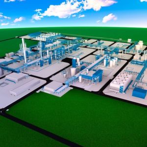 Thyssenkrupp is constructing the turnkey plant complex on a roughly 550,000 square meter site.