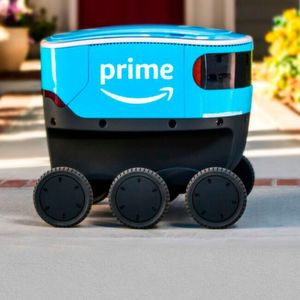 Amazon Scout is a self-driving service robot that is capable of delivering packages to customers at their door step.