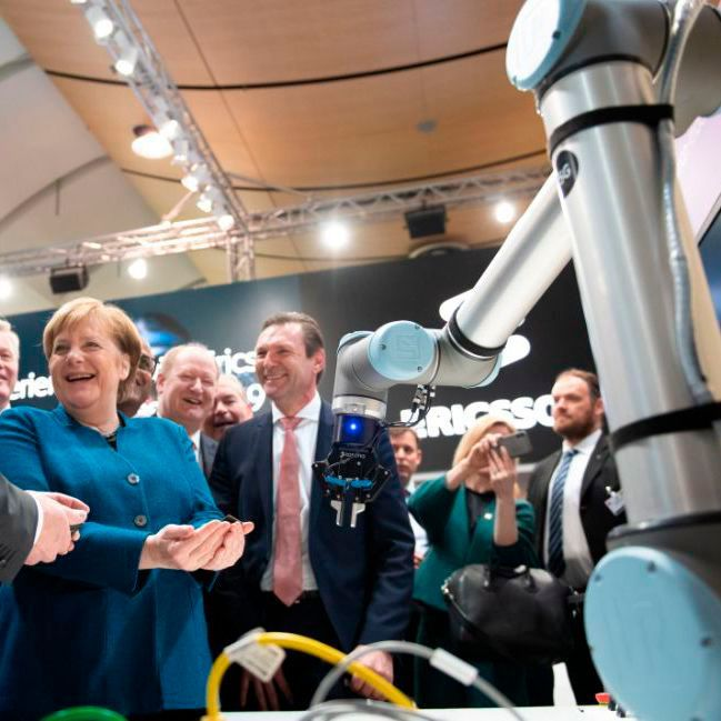 Dr. Angela Merkel, Chancellor of Germany at Hannover Messe 2019.