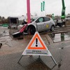 Crashtest mit E-Autos: Flammenloses Inferno