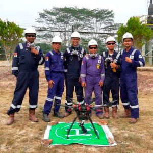 Terra Drone Indonesia Uses Drone for Inspecting Chevron's Flare Stacks