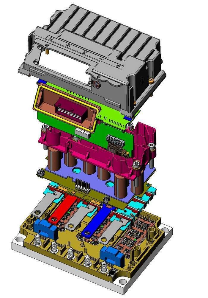 4: Explosionszeichnung einer 3-phasigen Motorsteuerung für ...