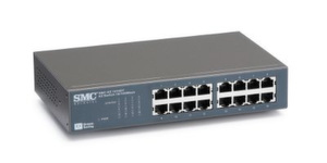 "16-Port 10/100 Mbps Auto-MDIX Switch ""SMC-EZ1016DT"""