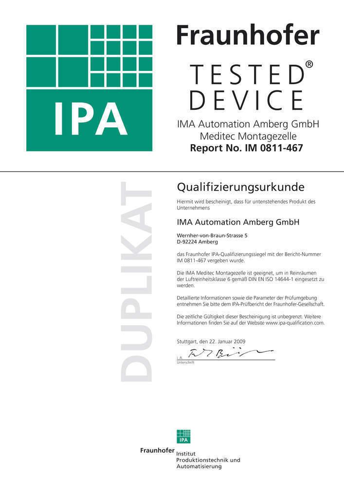 Zeugnis: Das IPA Zertifikat.