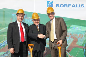 From left to right: Alfred Stern, Borealis Senior Vice President Innovation & Technology; Governor Upper Austria Josef Pühringer; Mark Garrett, Borealis CEO (Picture: Borealis)