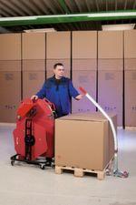 Eine Bedingung bei der neuesten Ergopack-Umreifungsanlage war, dass das System mobil und damit netzunabhängig sein musste.