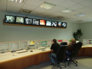 The control room of the Rohrdorf cement plant