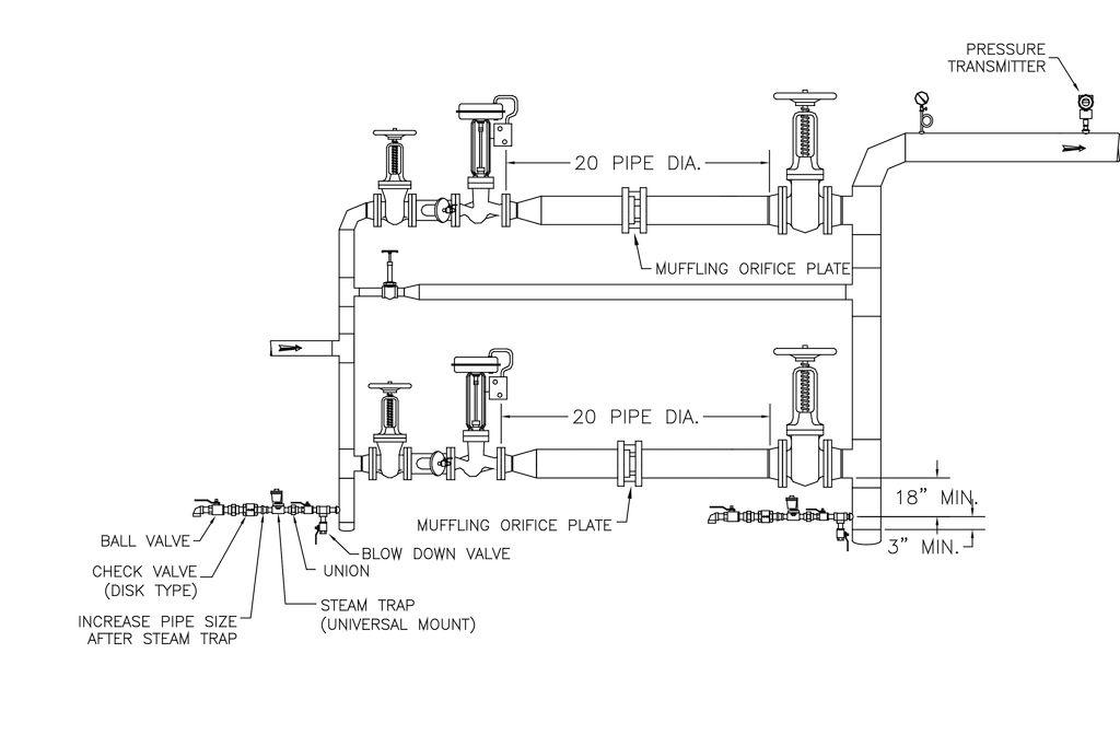 pressure reducing valve system in a two stage valve arrangement muffling ori. Black Bedroom Furniture Sets. Home Design Ideas