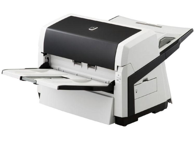 Der Abteilungsscanner verarbeitet gemischte Vorlagen automatisch ...