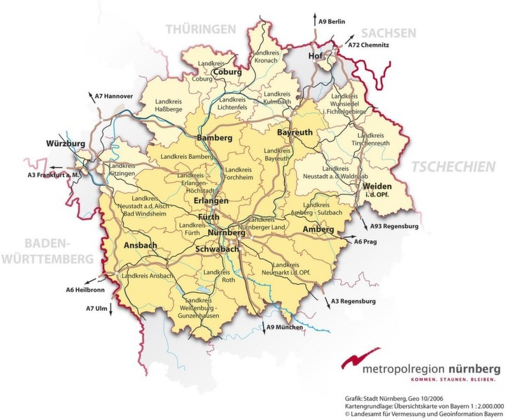 Landkreis Würzburg Karte.Bild 1 Im Kernbereich Der Metropolregion Nürnberg Auf Der Karte Die