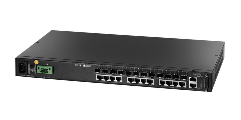 "Der ECS4810-12M ist Edge-Core Networks' jüngster L2-Gigabit-Switch für ""Managed Converged Services"" über Carrier-Ethernet-Netzwerke."