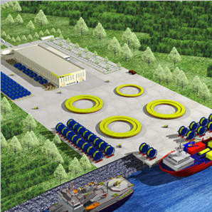 Aker build a manufacturing site for subsea umbilicals in Malaysia. (Picture: Aker)
